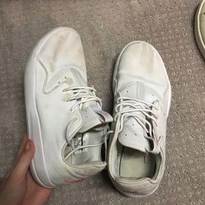 White Jordan sneakers